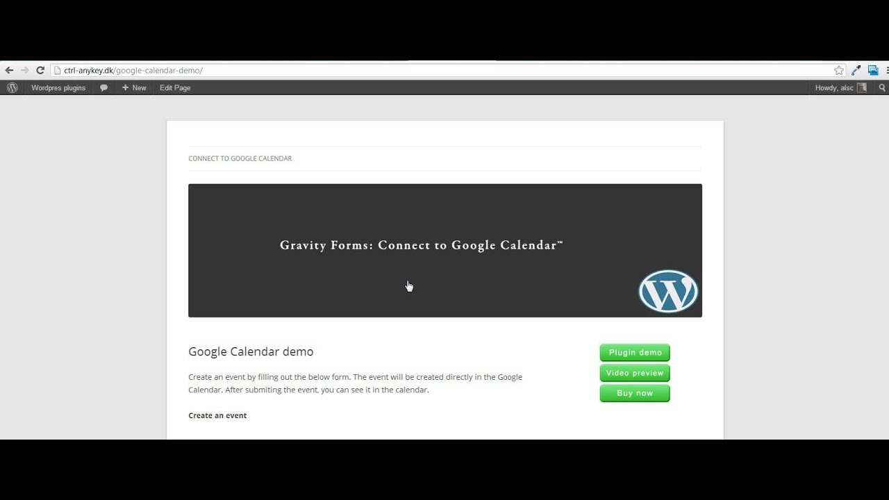 Gravity Forms: Connect to Google Calendar™ - YouTube
