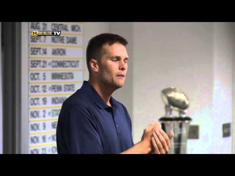 Tom Brady Visits Michigan Athletic Campus