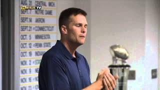 Tom Brady Visits Michigan Athletic Campus