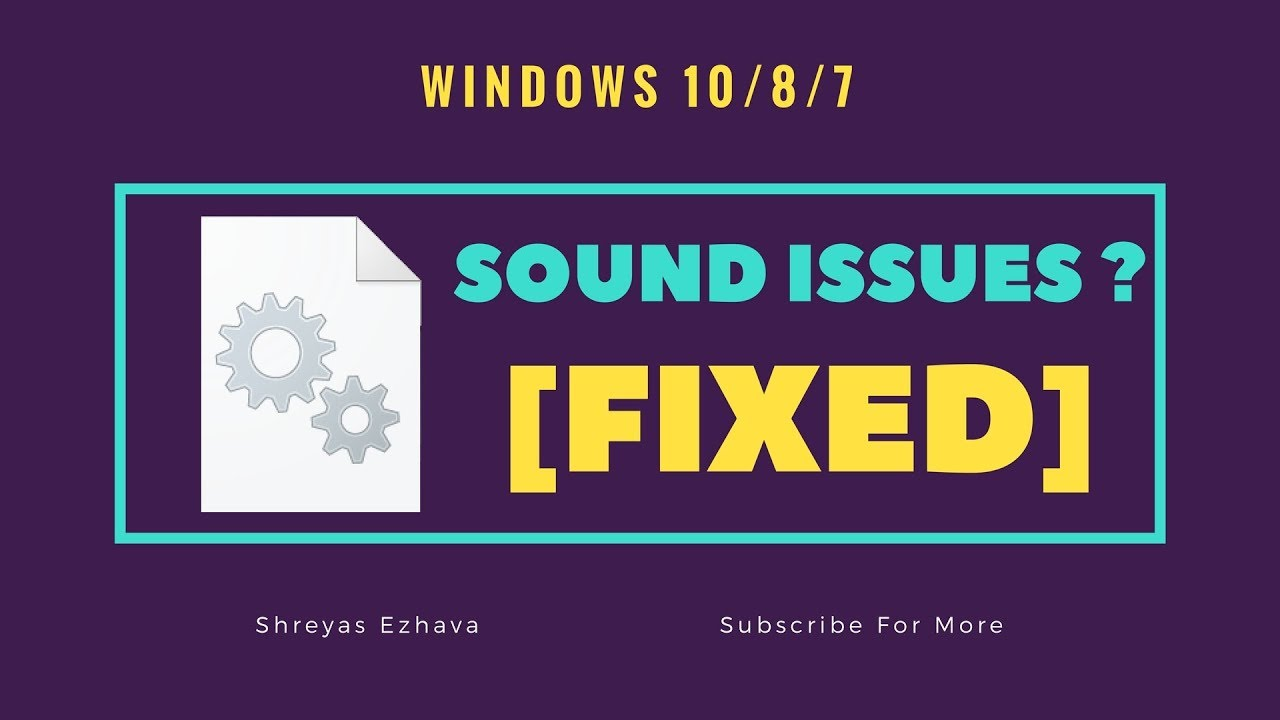 windows 10 sound problem