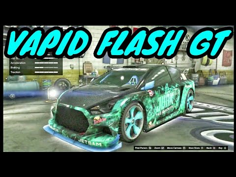 VAPID FLASH GT*Customization,Review, and Speed Test...LIVE GTA 5 Online