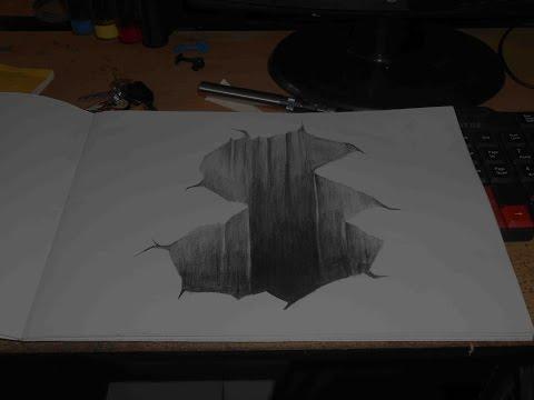 Melukis dengan pensil (Ilusi 3d)