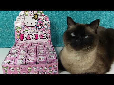 Hello Kitty Frenzies Tokidoki Phone Charm Kawaii Opening Unboxing Toy Review