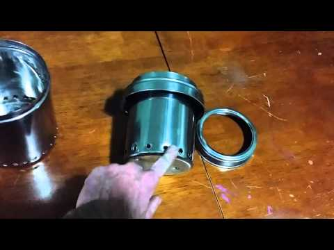 $11 Wood Gas Stainless Steel Cooking Stove DIY