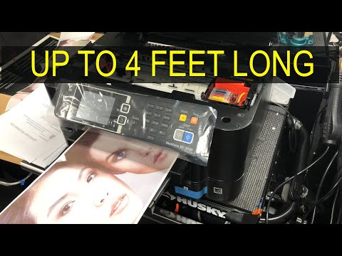 Print Banners: Up to 4 ft Long!  Using a Epson WorkForce Printer