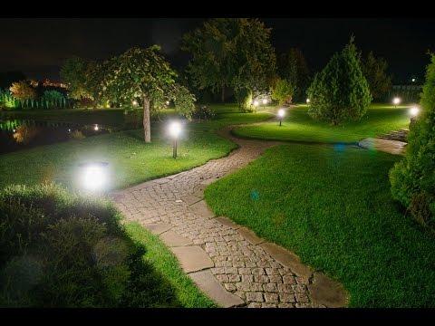 Функциональное освещение дорожек и декоративное освещение ландшафта