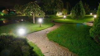 видео Освещение садовых дорожек