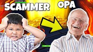SCAMMER wird von OPA angezeigt !!! Scammer lacht Opa aus... Fortnite Rette die Welt
