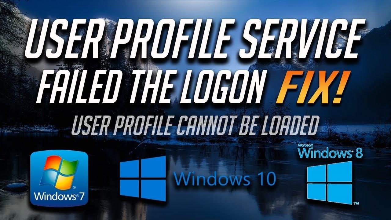 windows 8 user profile service failed
