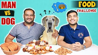 MAN VS DOG FOOD EATING CHALLENGE | Food Eating Competition | Viwa Food World
