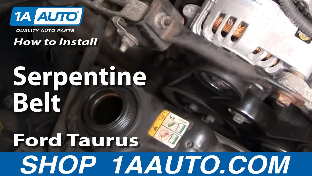 how to replace serpentine belt 01-05 ford taurus 3 0l v6  1a auto parts