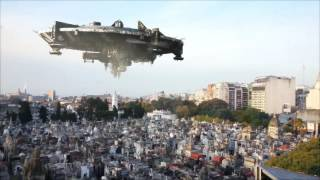 Spaceship over Recoleta