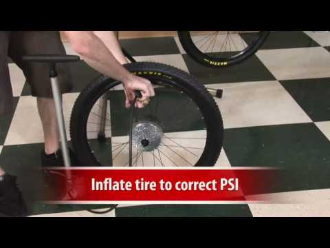 how to put a rear bike tire back on