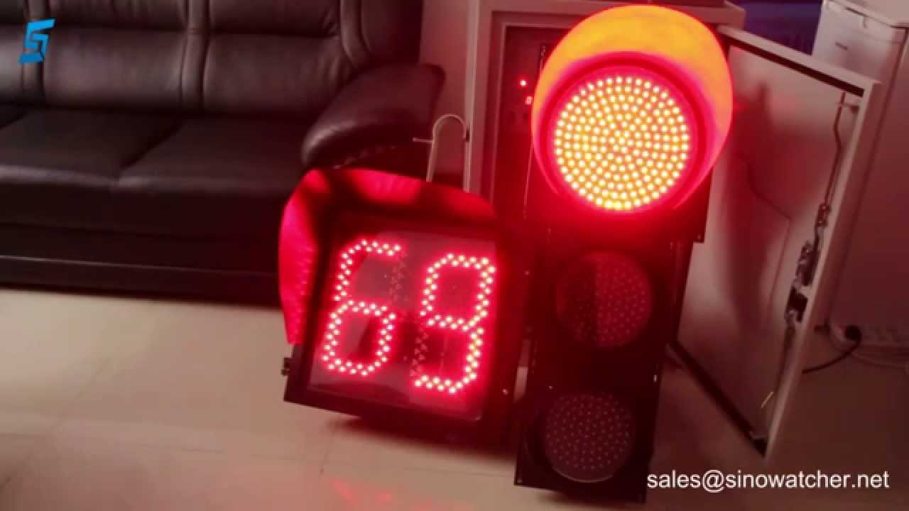 400mm Countdown Timer Synchronised With Led Traffic Signal