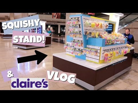 SQUISHY STAND AT THE MALL! SO MANY SQUISHIES! | CLAIRE'S VLOG