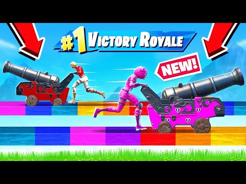 Push The CANNON *NEW* Game Mode in Fortnite Battle Royale