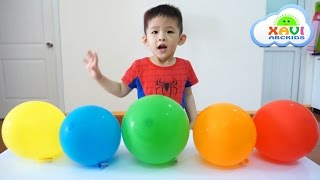 Xavi Learn colors with rocket balloons