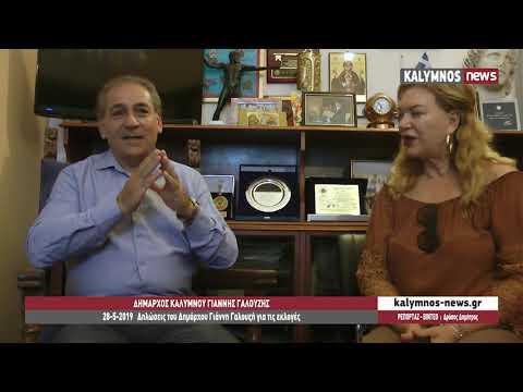 28-5-2019 Δηλώσεις του Δημάρχου Γιάννη Γαλουζή για τις εκλογές