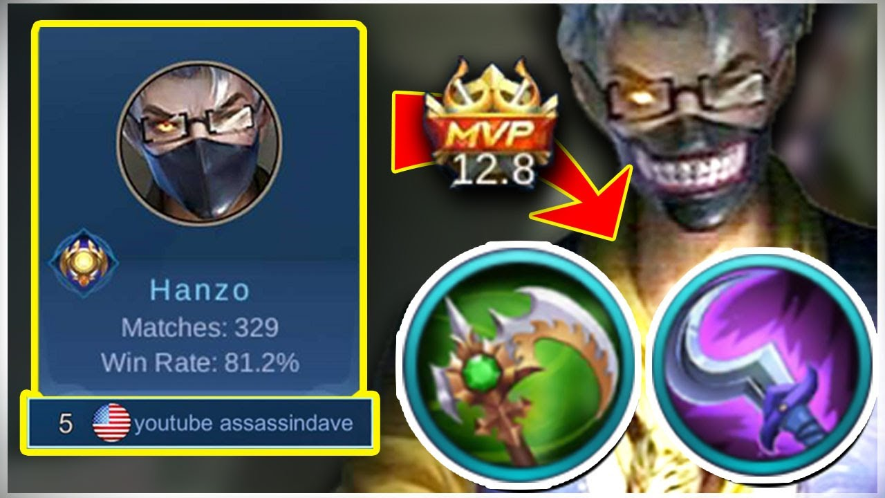 Top Global Hanzo August OP Rotation, Build | Mobile Legends