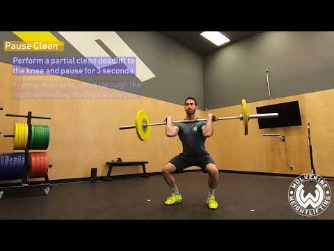 Clean Lift-Off + Pause Clean - Wolverine Weightlifting