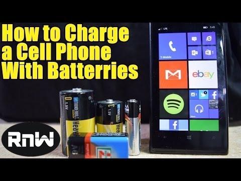 How to Charge a Cell Phone With AA, C, D or a 9V Battery - In an Emergency