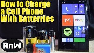 Wie Laden Sie ein Handy Mit AA, C, D oder 9V-Batterie - Im Notfall