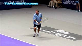 Ivan Lendl Forehand and Backhand Slow Motion HD