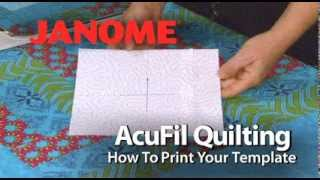 use acufil software to print the quilt template on the janome mc12000