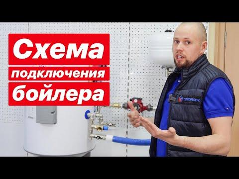 Схема подключения, обвязки бойлера косвенного нагрева
