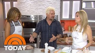 Make Guy Fieri's Bacon Roasted Turkey Breast And Brussels Sprouts | TODAY