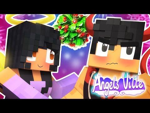 Aphmau Hangs Up The Mistletoe | Angelsville Minecraft Survival [Ep.14]