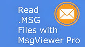 How to view MSG and EML files? - YouTube