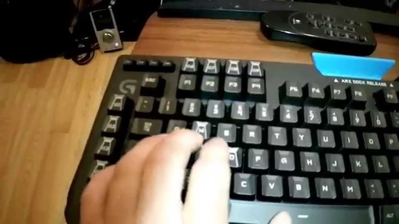 Problems with logitech g910 orion spark keyboard