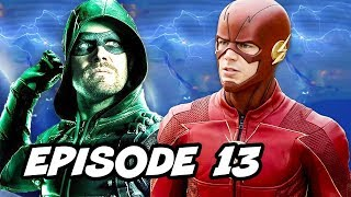Arrow Season 6 Episode 13 The Flash Crossover - TOP 10 WTF and Easter Eggs