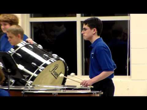 WBMS 7th grade Band(Ian on Timpani): Above the World