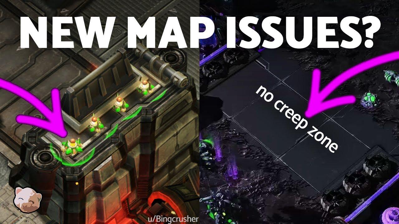 StarCraft 2 - New Maps, New Problems? (No creep, reaper pillars, 8 maps...)