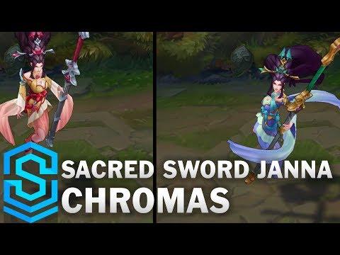 Sacred Sword Janna Chroma Skins