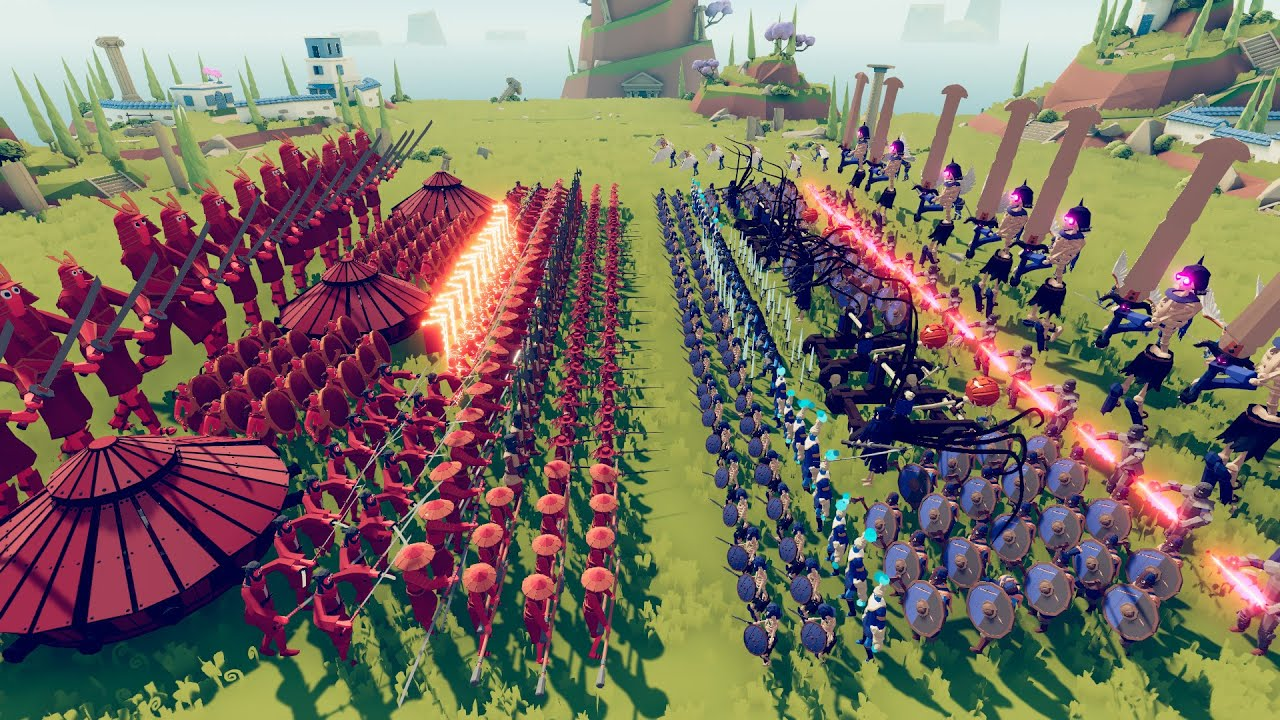Compilation Epic Battles Involving 1000 Units in TABS Army (Totally Accurate Battle Simulator)