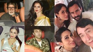 Randhir Kapoor 70th Birthday Party- Kareena Kapoor, Amitabh Bachchan, Rekha, Ranbir Kapoor,