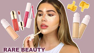 TRYING RARE BEAUTY BY SELENA GOMEZ | FIRST IMPRESSIONS, HIT OR MISS?!