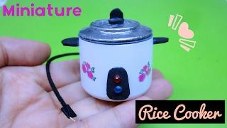 DIY Miniature Rice Cooker / Cách làm nồi cơm điện cho búp bê / Ami DIY