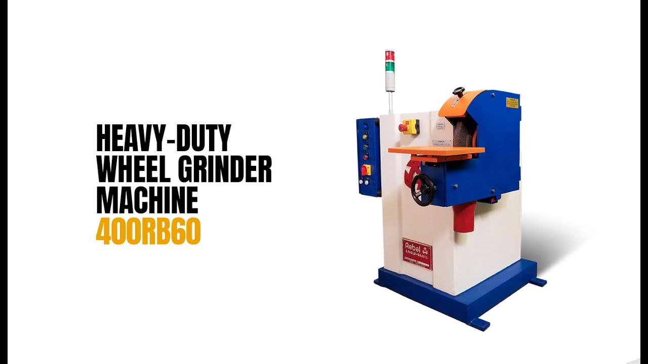 Heavy-Duty Wheel Grinder Machine Foundry Grinder | Rebel