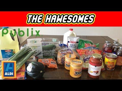 Aldi & Publix Grocery Haul 10/15/17