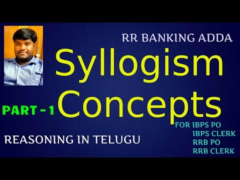 Syllogism Concept In Telugu || Reasoning || Part 1