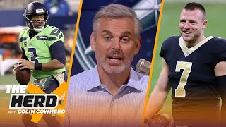 Seahawks looked like contenders, surprised Saints will start Taysom Hill? - Colin | NFL | THE HERD