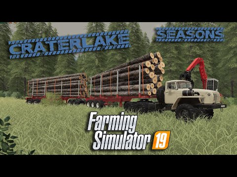🌄Farming Simulator 19| New Silo & Timber Truck Train | Crater Lake | timelapse | ep10🌄 |