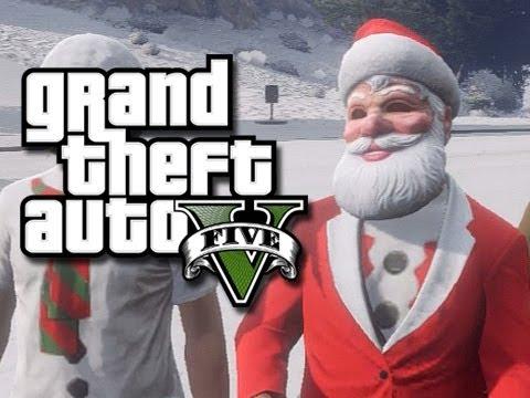 GTA 5 Christmas! (Snow in Los Santos!)