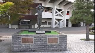 20190827 スタルヒン像(スタルヒンよ永遠に) スタルヒン球場(花咲スポーツ公園硬式野球場) 3