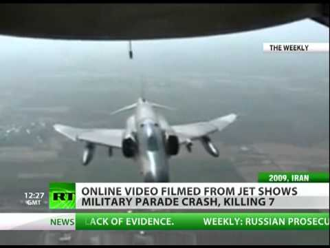 Shocking video: Iran IL-76 plane crash filmed from C-130 Hercules