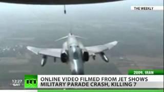 Shocking video: Iran IL-76 plane crash filmed from C-130 Hercules thumbnail